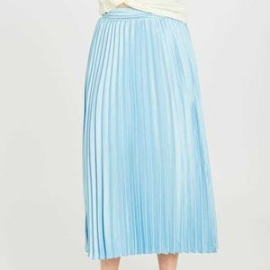 NWT Altar'd State Avenue Midi Pleated Blue Skirt